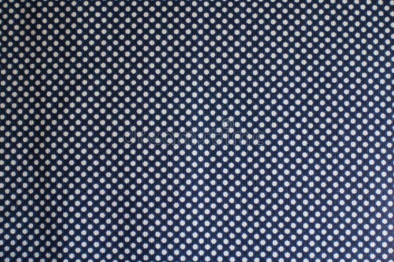 Ткань с точечным растром польки сверху стоковое изображение rf