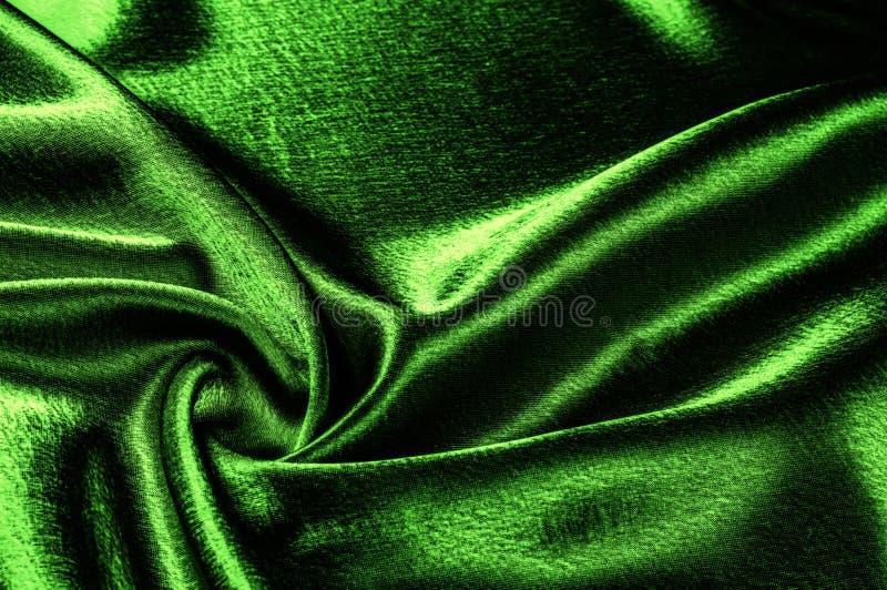 ткань текстуры silk зеленое металлическое волокно металлический блеск Th стоковое изображение rf