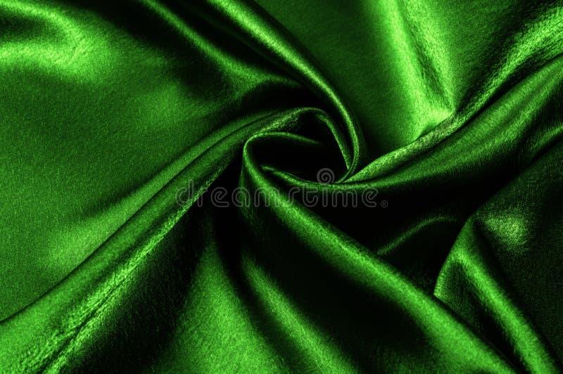 ткань текстуры silk зеленое металлическое волокно металлический блеск Th стоковые фотографии rf
