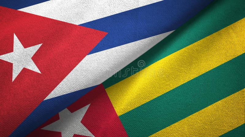 Ткань ткани флагов Кубы и Того 2, текстура ткани бесплатная иллюстрация