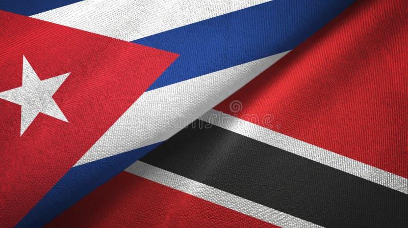 Ткань ткани флагов Кубы и Тринидад и Тобаго 2, текстура ткани иллюстрация вектора
