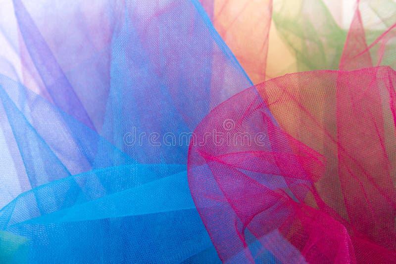 Ткань Тюль изолированная на белой предпосылке стоковые изображения