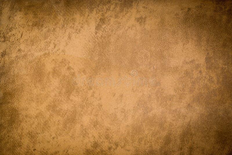 Ткань холста текстуры Grunge коричневая стоковая фотография rf