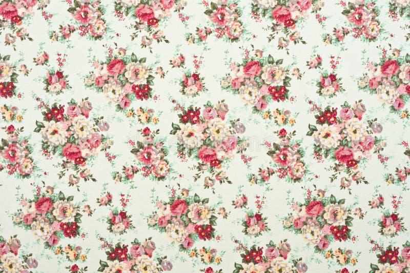 Ткань цветочного узора стоковая фотография