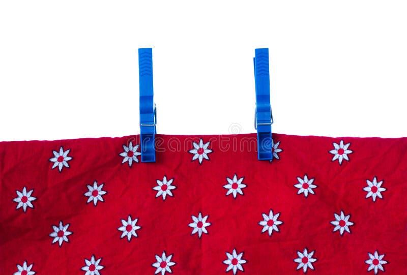 ткань 2 clothespins стоковые изображения