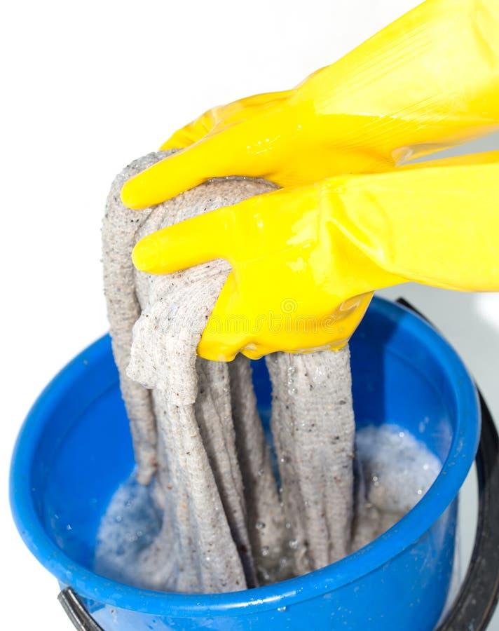 Ткань Rinse на белой предпосылке стоковая фотография rf