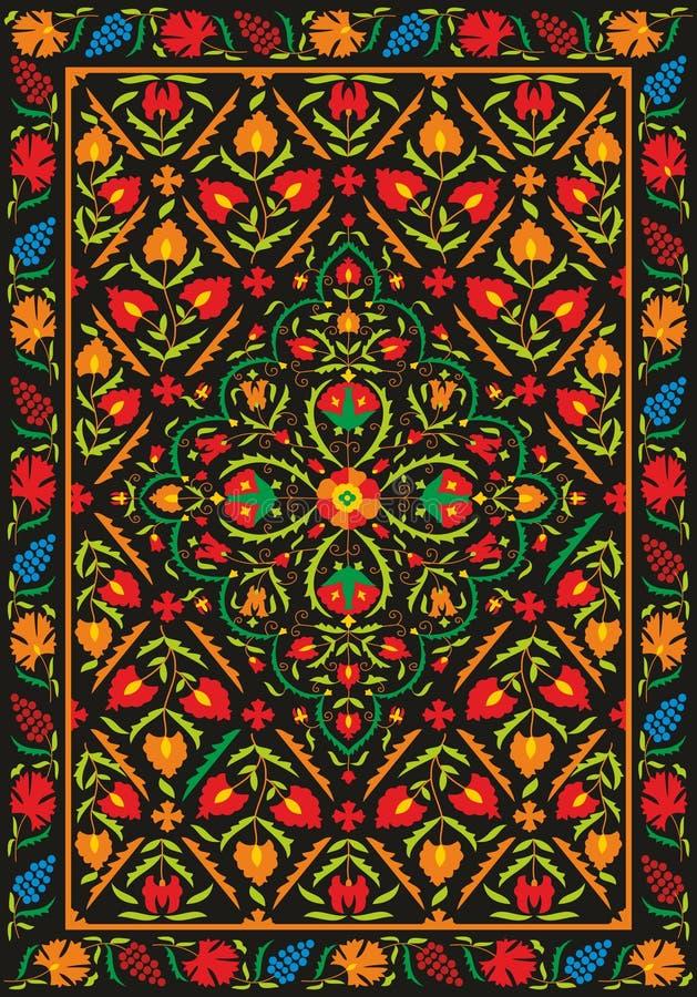 Ткань Suzani - узбекская вышивка бесплатная иллюстрация
