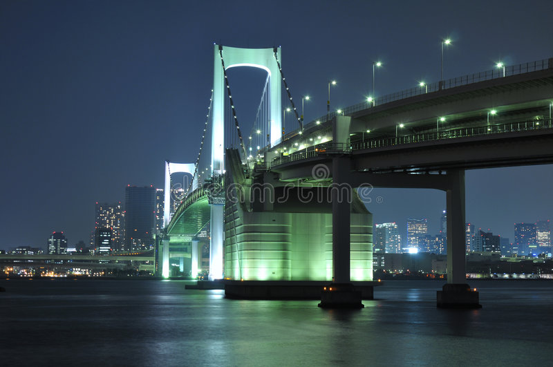 токио радуги моста стоковое изображение