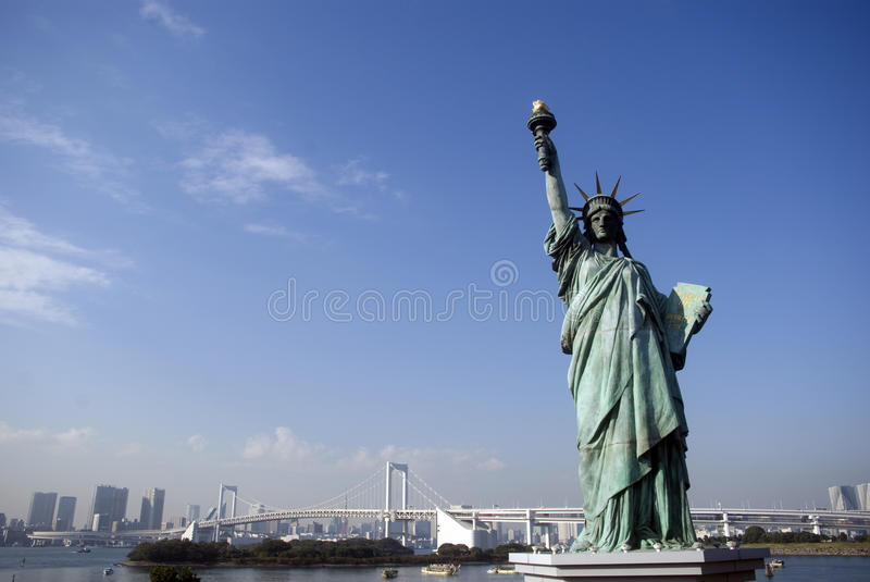 токио статуи odaiba вольности японии стоковое изображение