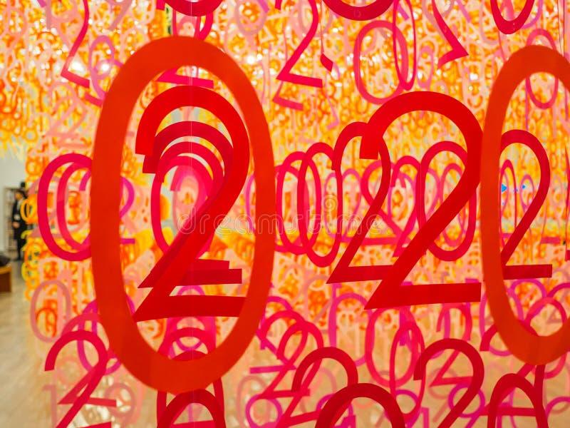 ТОКИО, ЯПОНИЯ - 5-ОЕ АВГУСТА 2017: Красивый вид леса нумерует внутри музея с сортировать и красочный иллюстрация вектора