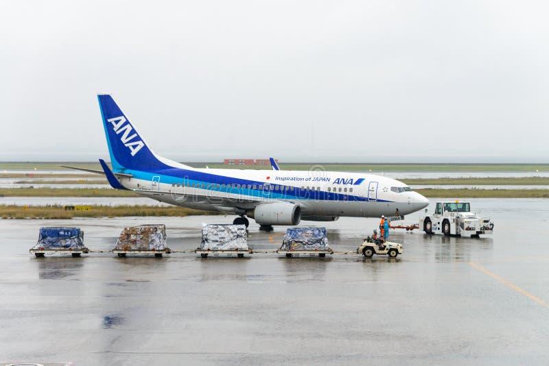 ТОКИО, ЯПОНИЯ - 27-ОЕ НОЯБРЯ 2016: самолет управляемый всей японией Ai стоковые изображения