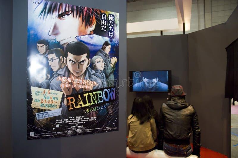 токио 2010 anime справедливое международное стоковое изображение