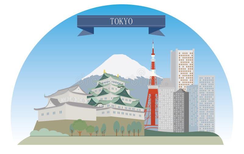 Токио иллюстрация вектора