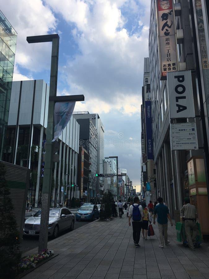 Токио Ginza леса здания стоковая фотография rf