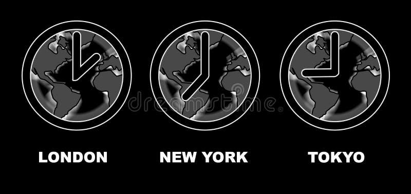 токио york времени london новое бесплатная иллюстрация