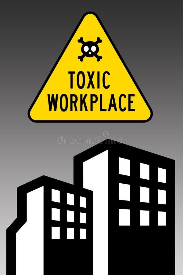 Токсическое рабочее место иллюстрация вектора