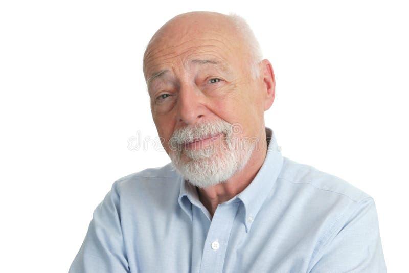 толковейший старший человека стоковое фото rf