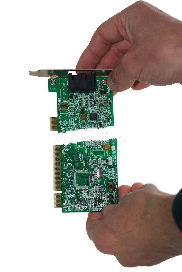 толкотня компьютера стоковое изображение rf