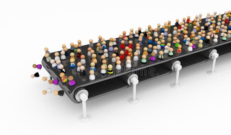 толпа транспортера шаржа бесплатная иллюстрация