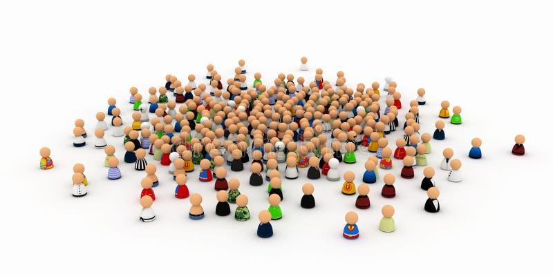 толпа шаржа бесплатная иллюстрация