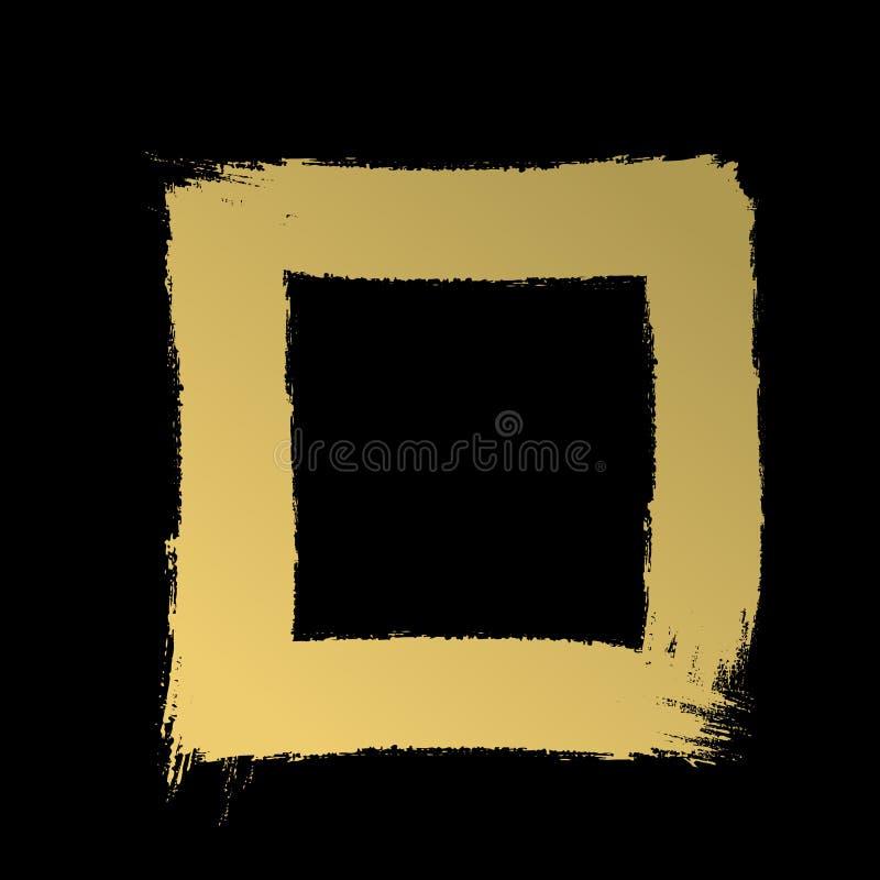 Толстая рамка ходов Нарисованные вручную ходы предпосылка изгибает текстуру макроса золота рамки старую бесплатная иллюстрация