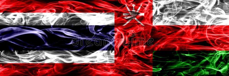 Толстым покрашенные конспектом шелковистые флаги дыма стоковые фотографии rf