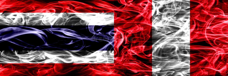 Толстым покрашенные конспектом шелковистые флаги дыма стоковая фотография rf