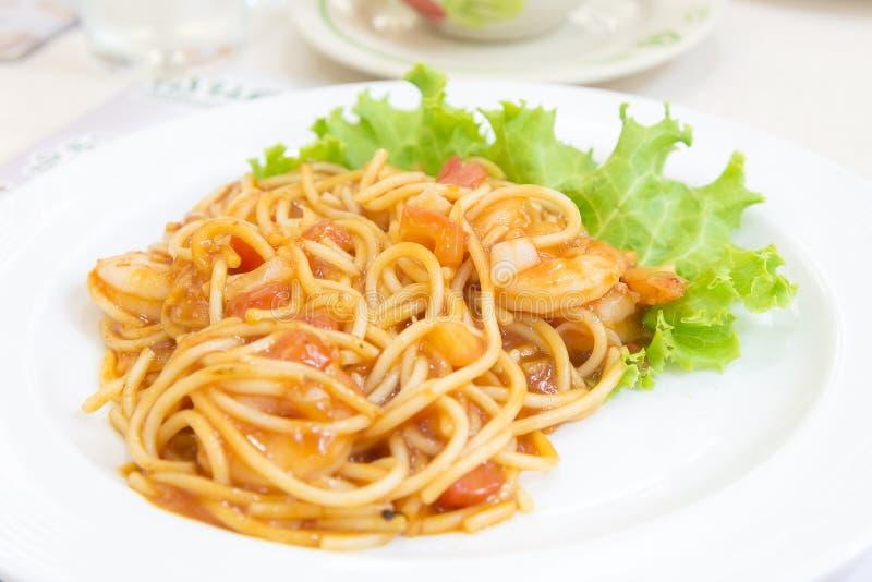Томатный соус спагетти стоковое изображение