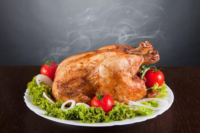 томаты жаркого цыпленка вкусные красные стоковое фото