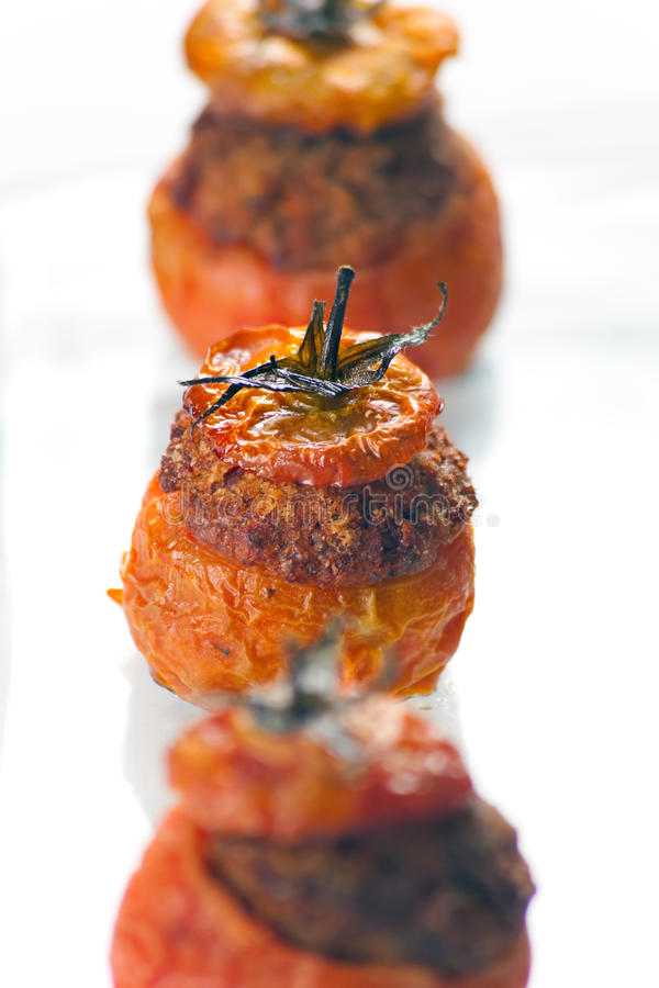 томаты мяса заполненные Стоковые Фото