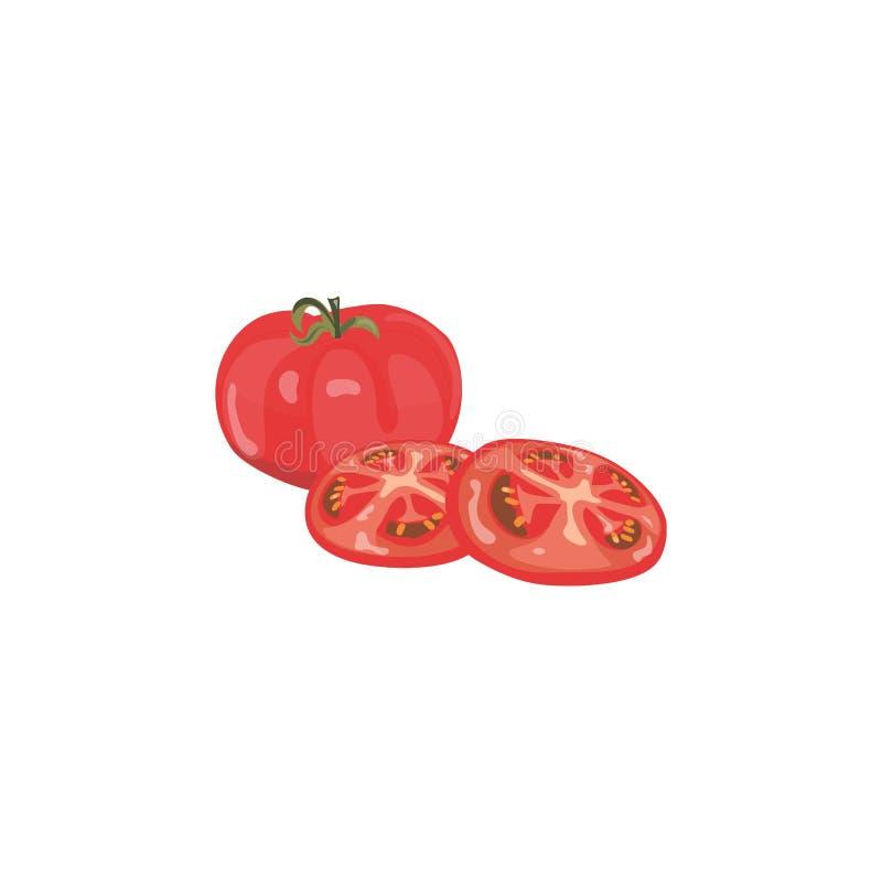 томаты предпосылки свежие белые Вектор взгляд сверху иллюстрация штока