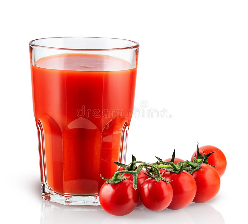 томаты томата сока вишни стоковое изображение