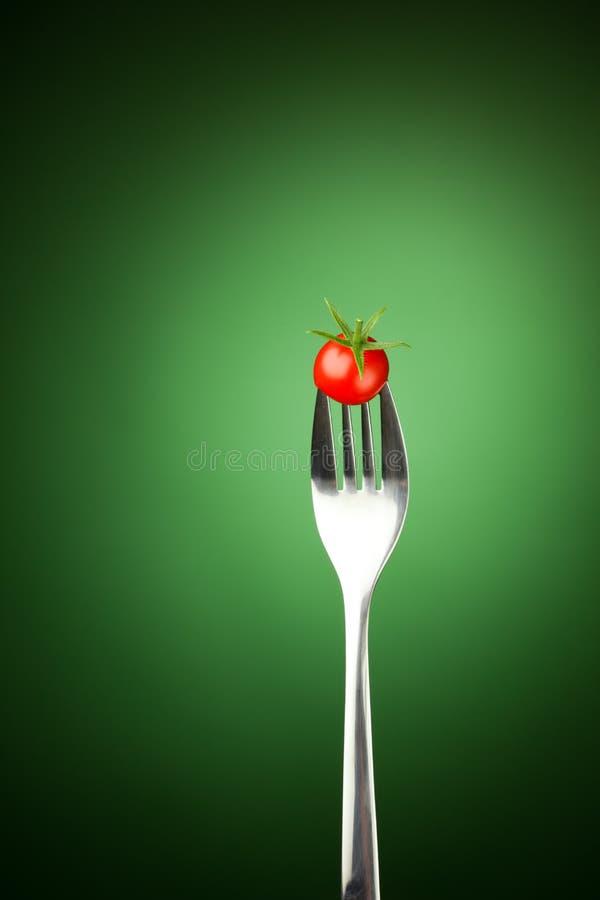 Download томат вилки вишни стоковое изображение. изображение насчитывающей здорово - 18379959