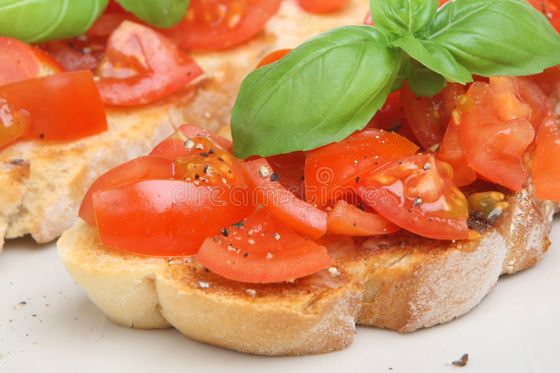 томат итальянки bruschetta стоковые изображения rf