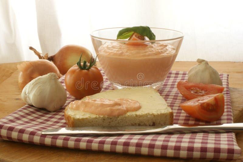 томат лука коттеджа сыра стоковое фото