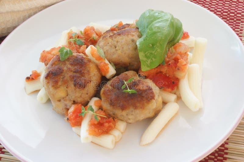 томат макаронных изделия мяса шарика стоковое изображение rf