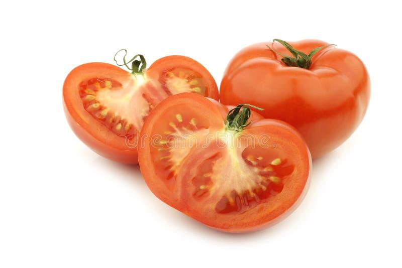 томат отрезанный говядиной свежий один стоковые изображения