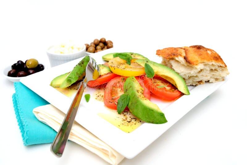 томат салата авокадоа стоковые фотографии rf