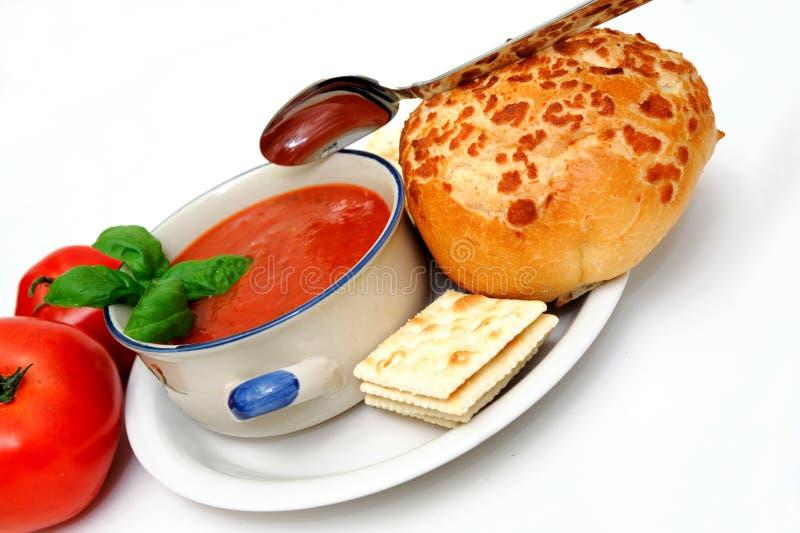 томат супа базилика стоковое изображение