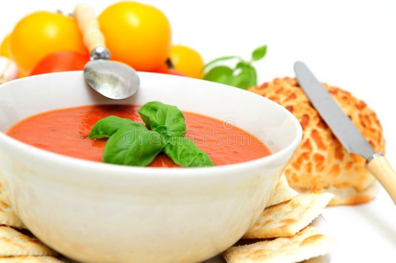 томат супа базилика стоковые фотографии rf