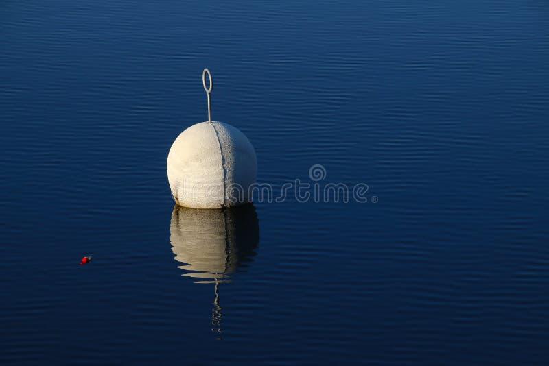 Томбуй в спокойной воде стоковая фотография rf