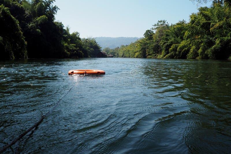 Томбуй жизни на озере стоковая фотография