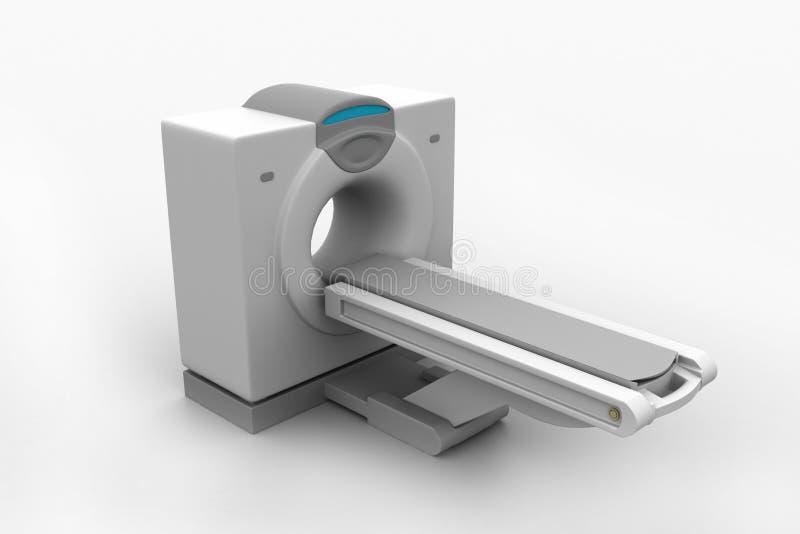 Томография блока развертки CT иллюстрация вектора