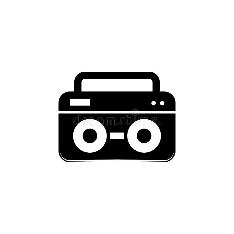 Тональнозвуковой значок рекордера Элемент значка музыки Наградной качественный значок графического дизайна Знаки и значок для веб иллюстрация вектора