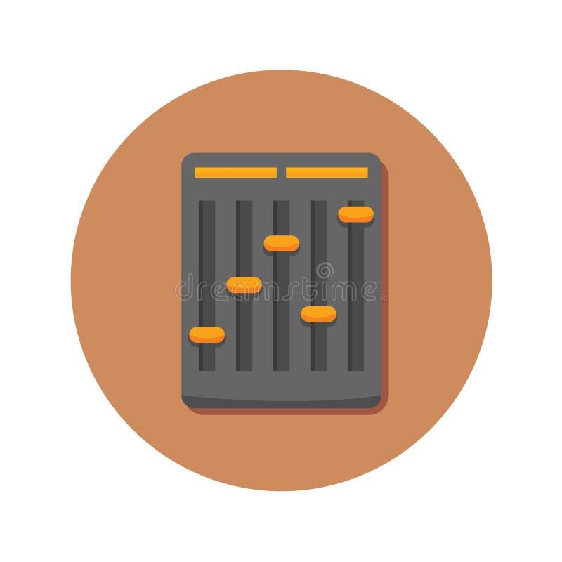 Тональнозвуковой мини график иллюстрации вектора значка смесителя иллюстрация штока