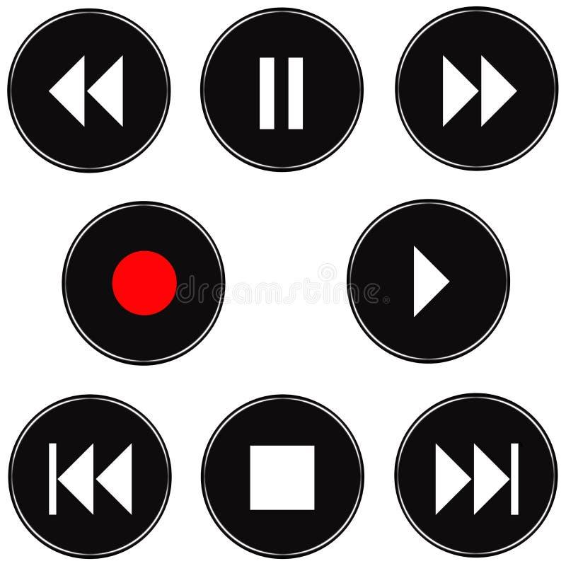 тональнозвуковые кнопки 3d иллюстрация штока