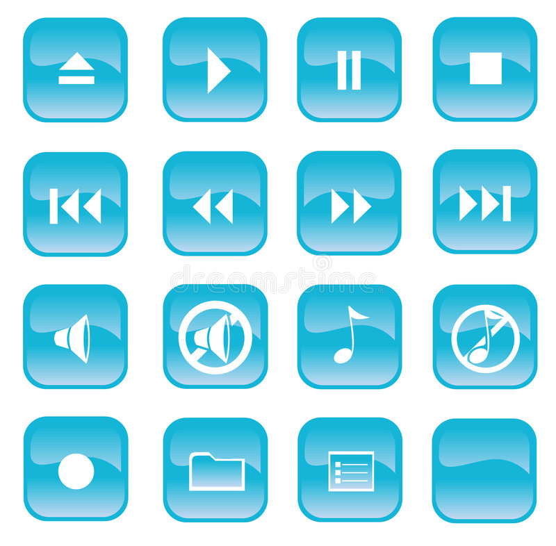 тональнозвуковые кнопки бесплатная иллюстрация