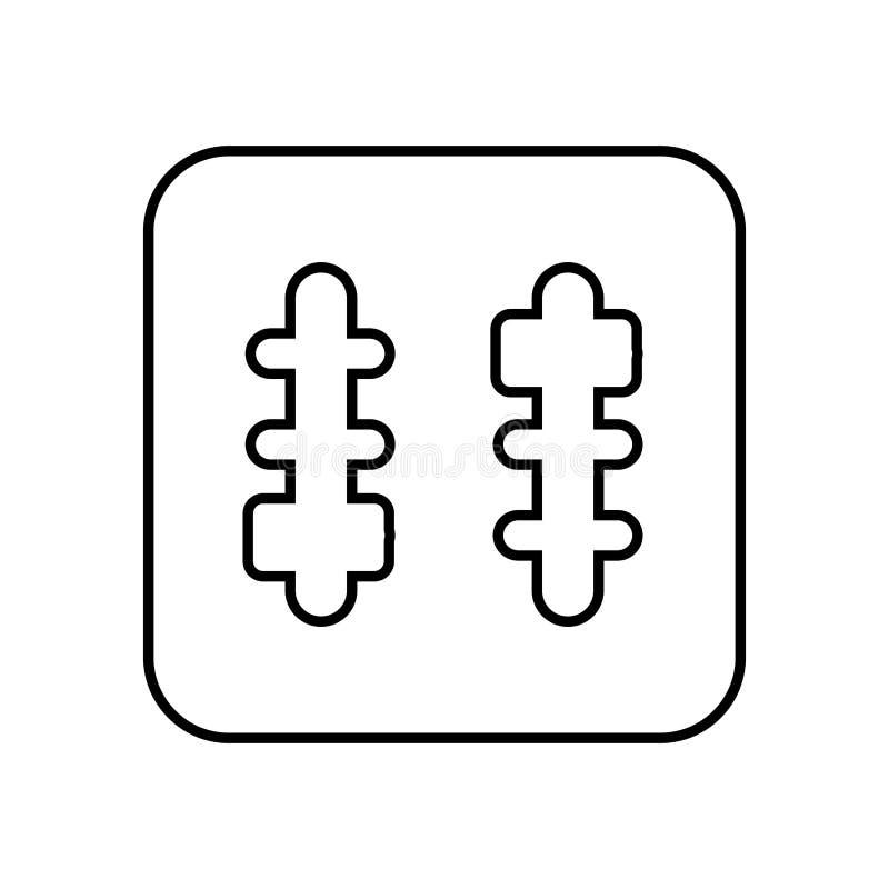 тональнозвуковой пульт управления изолировал дизайн значка иллюстрация вектора