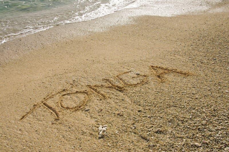 Тонга в песке стоковые изображения rf