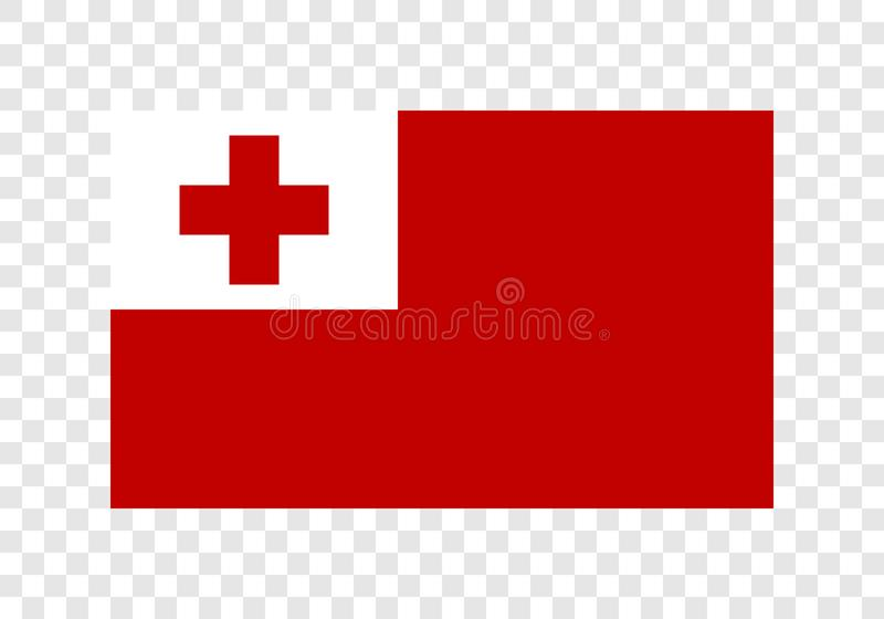 Тонга - национальный флаг иллюстрация вектора
